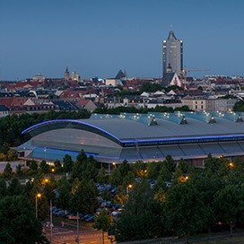 Arena Leipzig Außenansicht